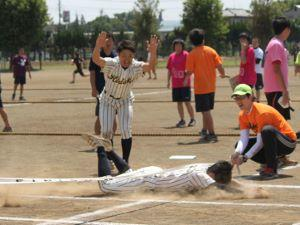 野球部はスライディングでゴール【部活対抗R】